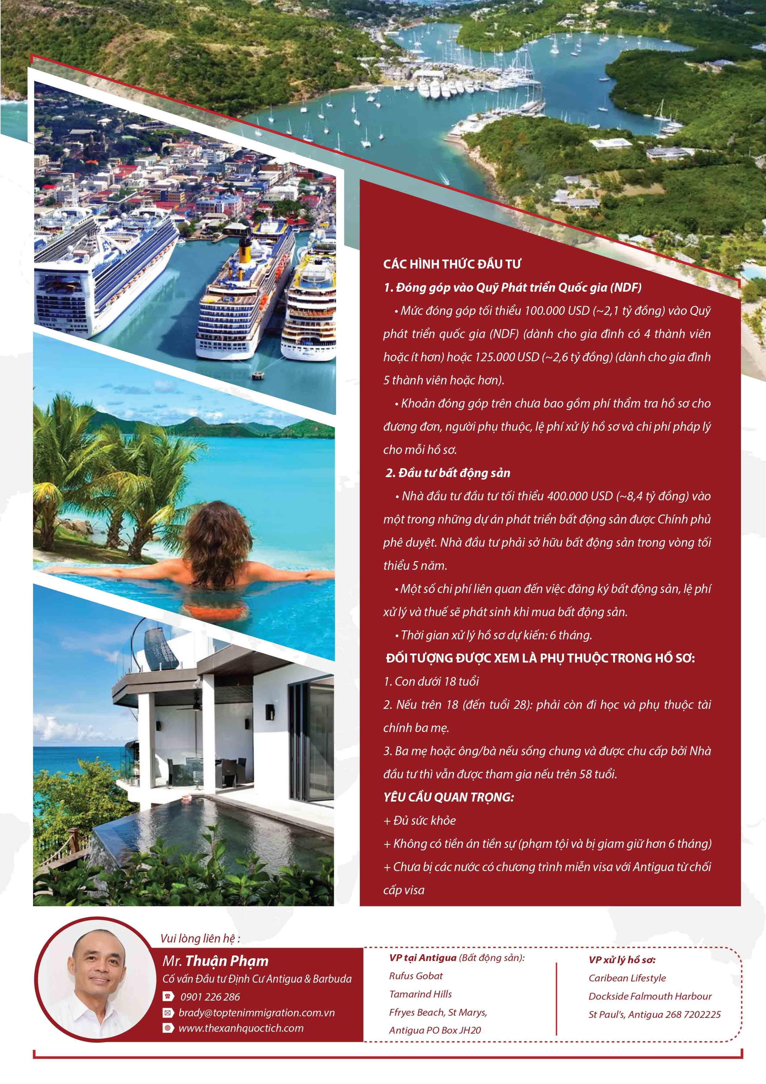 Chương trình Đầu tư nhập quốc tịch hộ chiếu Antigua