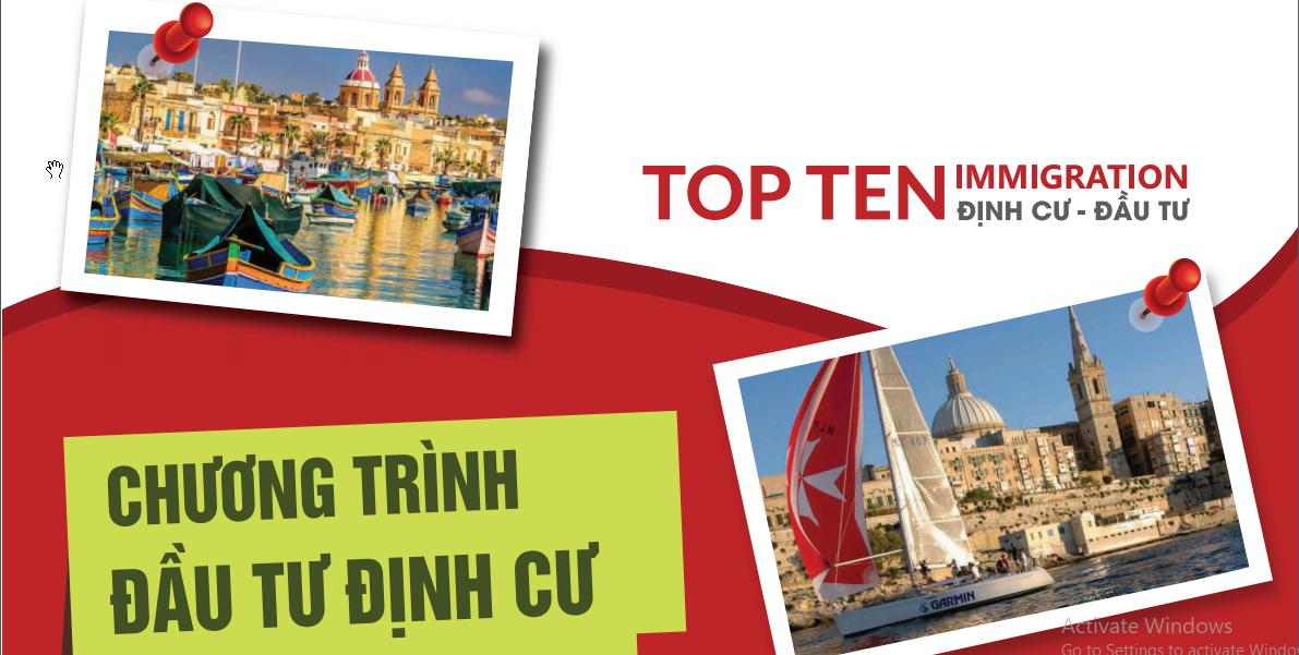 Top Ten Immigration, Dịch vụ tư vấn Đầu tư Sở hữu thẻ xanh-quốc tịch các nước