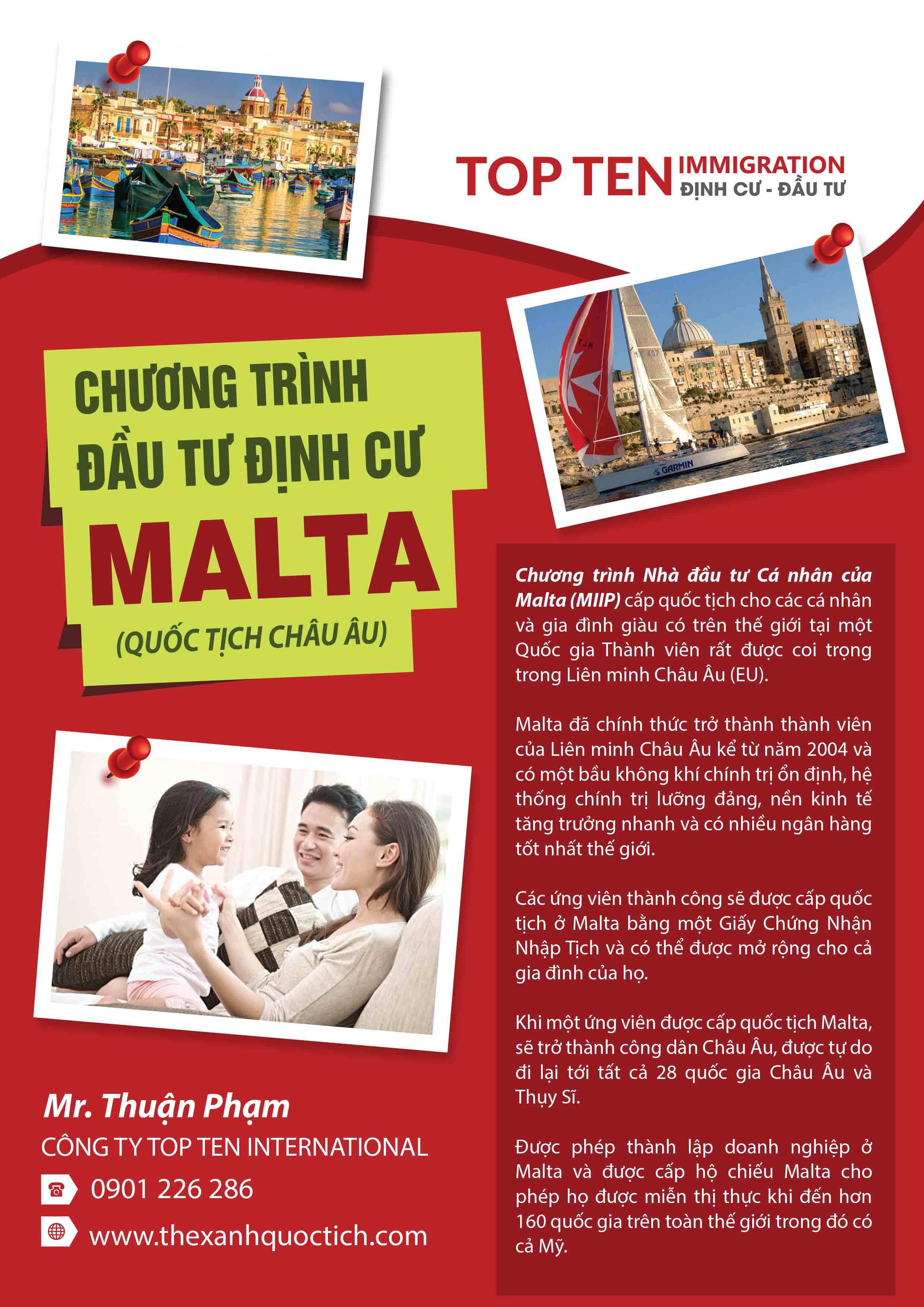 Đầu tư định cư nhập quốc tịch Malta