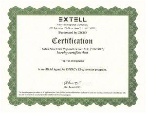Top Ten Immigration - Tự hào là Đơn vị đại diện tư vấn đầu tư định cư Mỹ các dự án EB5 của Nhà đầu tư Extell